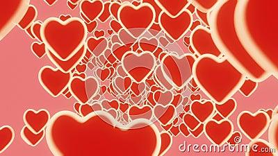 3D Infinite loop heart latające na różowym tle Symbole miłości dla szczęśliwych kobiet, matki, walentynki, życzenia urodzinowe ilustracji