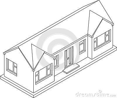 3d Isometric Bungalow Royalty Free Stock Image Image