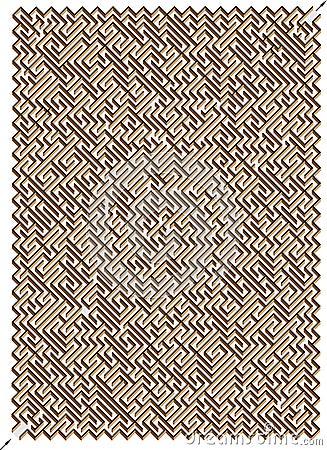 3D labyrint. Één Juiste Manier