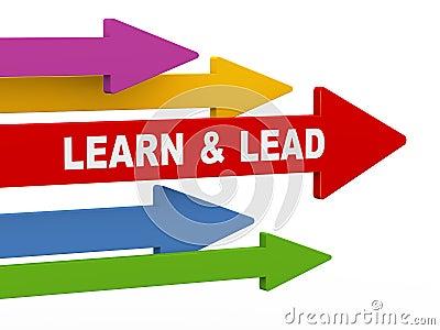 3d learn and lead arrow