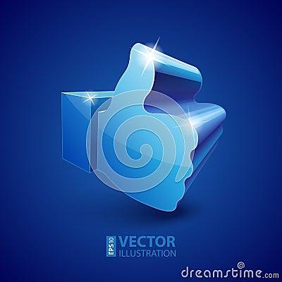 3d Like symbol