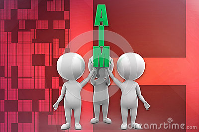 3d man aim illustration
