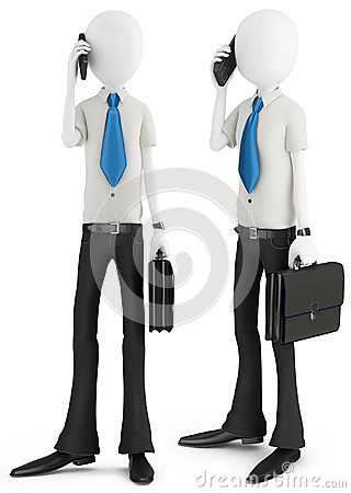 3d man businessman talking at the phone