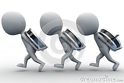 3d man carrying film reel