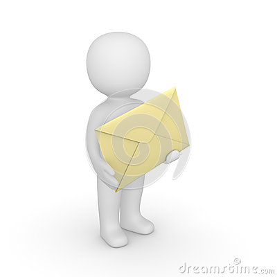 3d man with envelope