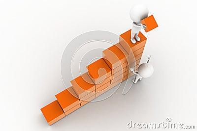 3d man lifting cargo