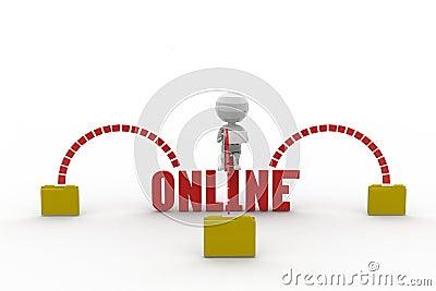 3d Man Online Concept