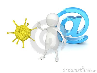 3d man protect e-mail at symbol from computer virus