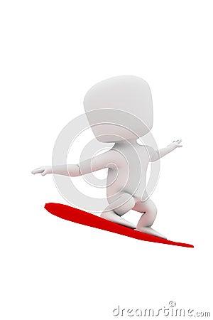 3d man - snowboard