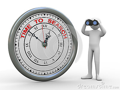 3d man time to search clock