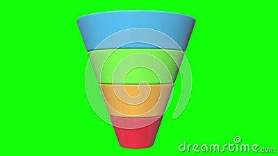 3d Marketing Diagram van de Trechterverkoop royalty-vrije illustratie