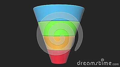 3d Marketing Diagram van de Trechterverkoop stock illustratie