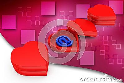 3d new generation love illustration