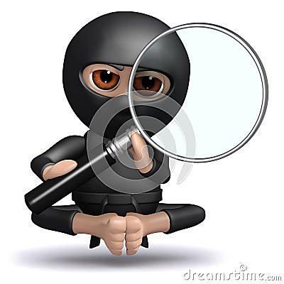 3d Ninja observes