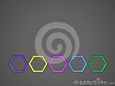 Octagon Template Layout Stock Illustration - Image: 65622097