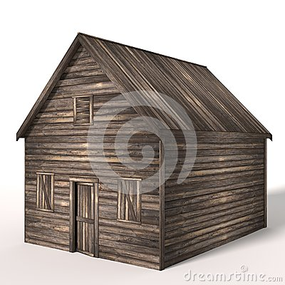 3d Old Wood Shed
