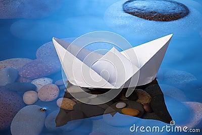 łódź papier
