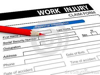 3d pencil and work injury claim form