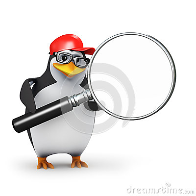 3d Penguin magnifier