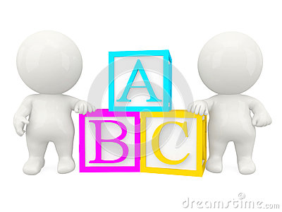 3D people with ABC cubes