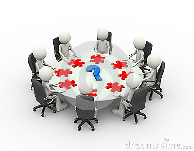 3d people business meeting conference table stock for Meeting table design 3d