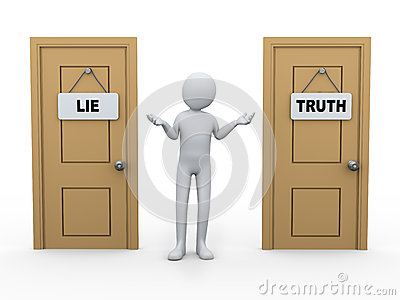 3d person and truth lie door
