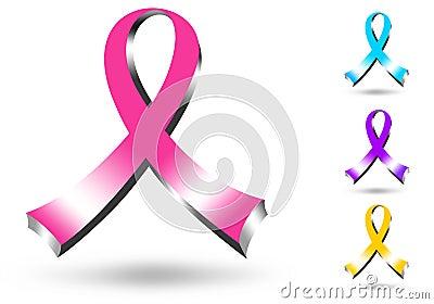 3D Pink Ribbon