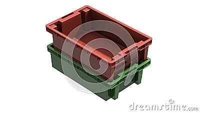 3D plastic solid crate
