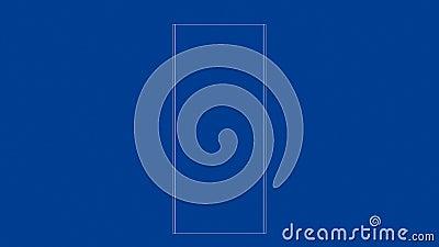 3d ramy model garderoba ilustracja wektor
