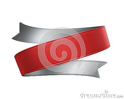 3d red ribbon tag, design element