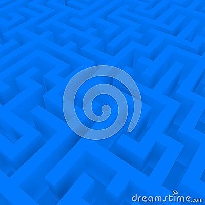 3d Render of a Blue Maze