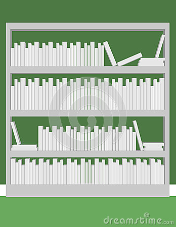 3d Render of a Bookshelf