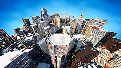 3D render of city