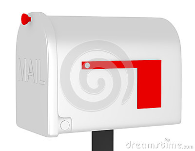3d Render of a Closed Mailbox