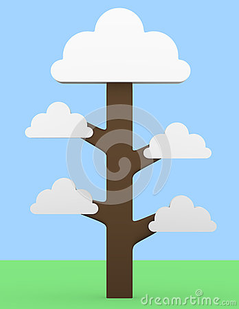 3d Render of a Cloud Tree