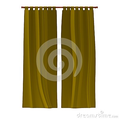 3d render of curtain Stock Photo