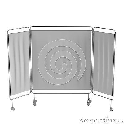3d render of folding screen