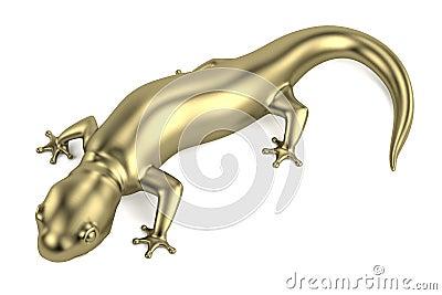 3d render of golden salamander