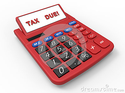 3D render illustration of the tax due deadline Cartoon Illustration
