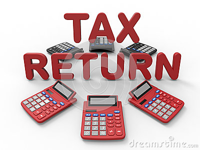 3D render illustration - tax return concept Cartoon Illustration