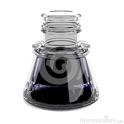 3d render of inkpot Stock Photo