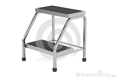 3d render of medical stairs Stock Photo