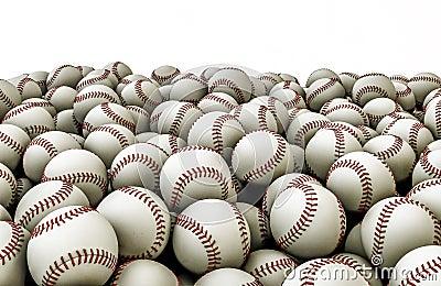 Baseballs pile