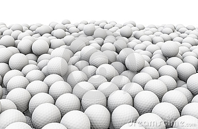 Golf balls pile