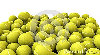 Tennis balls pile