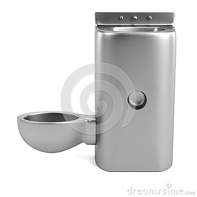 3d render of prison toilet Stock Photo