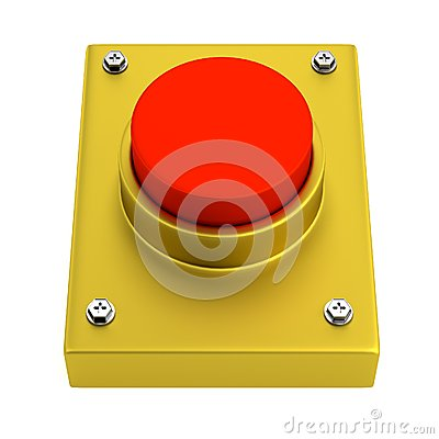 3d render of red button