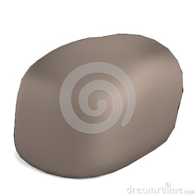 3d render of rock