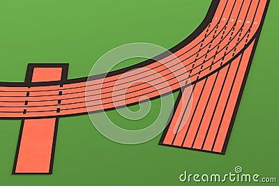 3d render of running track