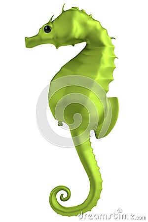 3d render of seahorse